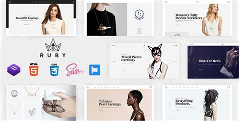 Ruby Jewelry Store Ecommerce Bootstrap 4 Template Download Ruby Jewelry Store Ecommerce Bootstrap 4 Ecommerce Template