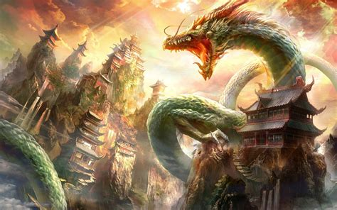 fantasy art dragon china wallpapers hd desktop