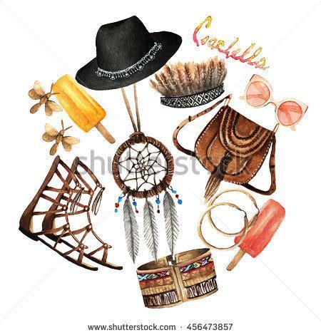 fashion illustration accessories watercolor fashion illustration set trendy accessories stock illustration 456473857