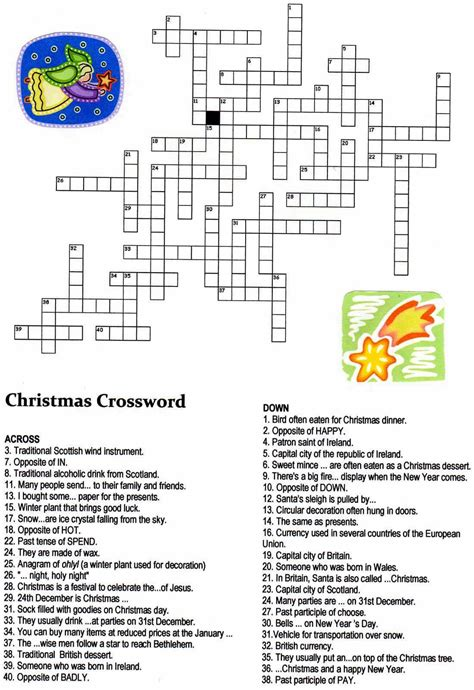 printable christmas crossword puzzles for adults christmas angel crossword puzzle christmas pinterest