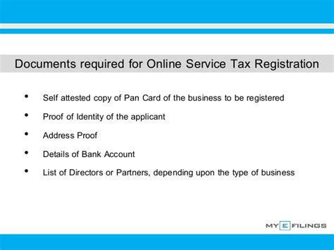 how to register a service how to do service tax registration