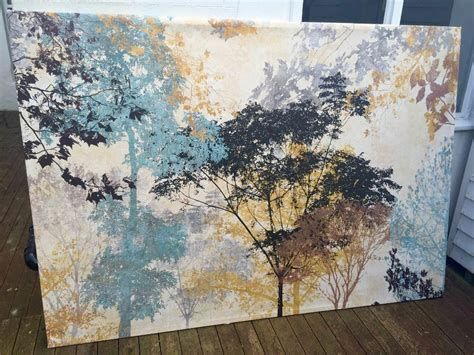 huge ikea forest ambience canvas    brighton