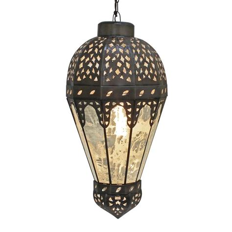 Mexican Pendant Light Mexican Tin Lighting Collection Zeppelin Lanternw Antiqued Glass Lamc68