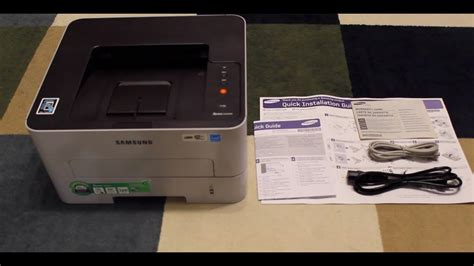 unboxing samsung printer xpress m2835dw