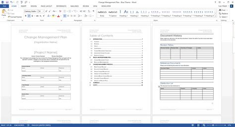 change template change management plan ms word excel templates