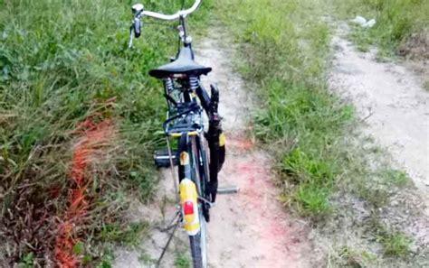 Tas Sepeda Pancal kakek ditemukan tewas saat mancing di desa natai baru