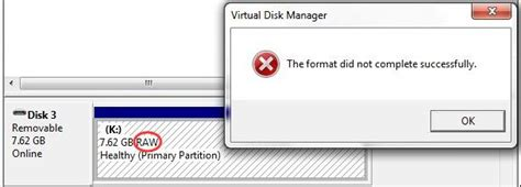 format hard drive did not complete successfully how can you fix quot the format did not complete successfully quot