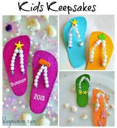 kids craft flip flop keepsake craft kids play box