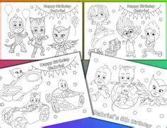 pj masks coloring pages pj masks birthday party favor