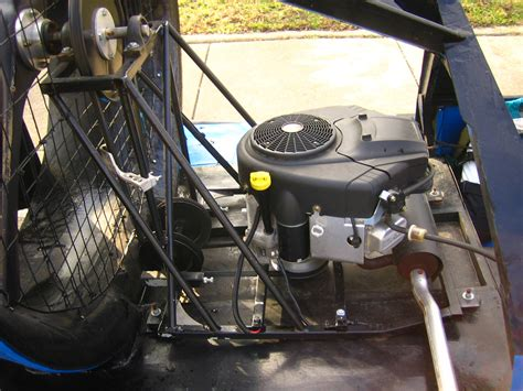 vertical shaft engine on a mini southern airboat