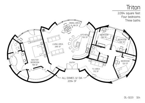 4 bedroom monolithic dome floor plan interior design