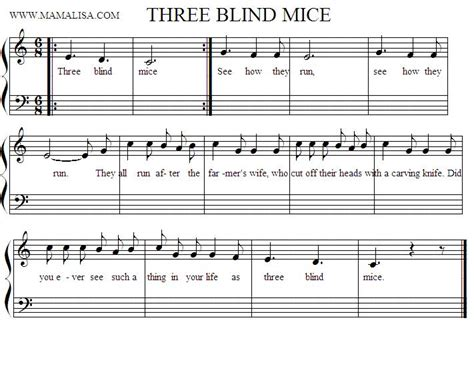 Three Blind Mice Recorder does anyone the notes of three blind mice on the