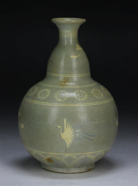 Korean Celadon Vase by A Korean Celadon Glazed Porcelain Vase