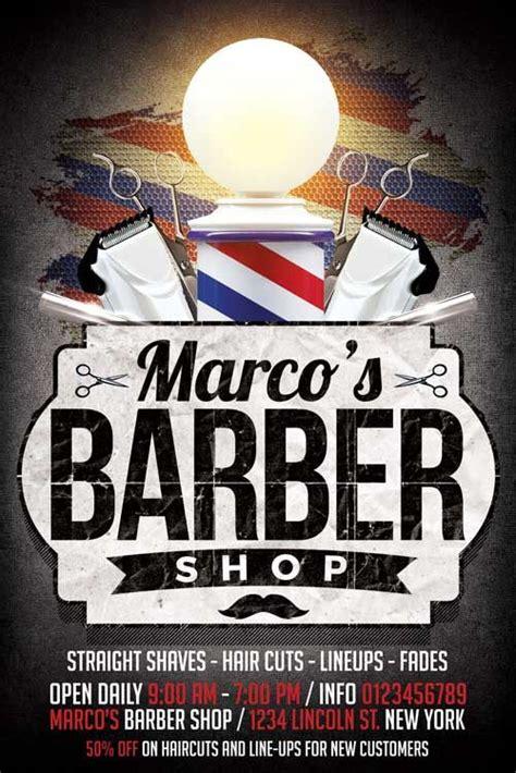 barbershop flyer template xtremeflyers barber shop