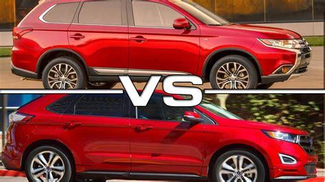ford and mitsubishi 2016 mitsubishi outlander gt vs 2016 ford edge sport