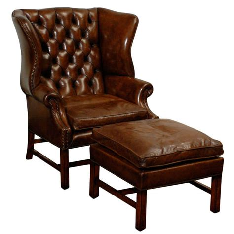 Tufted Wingback Chair by Owletts Tufted Wing Chair Wide At 1stdibs