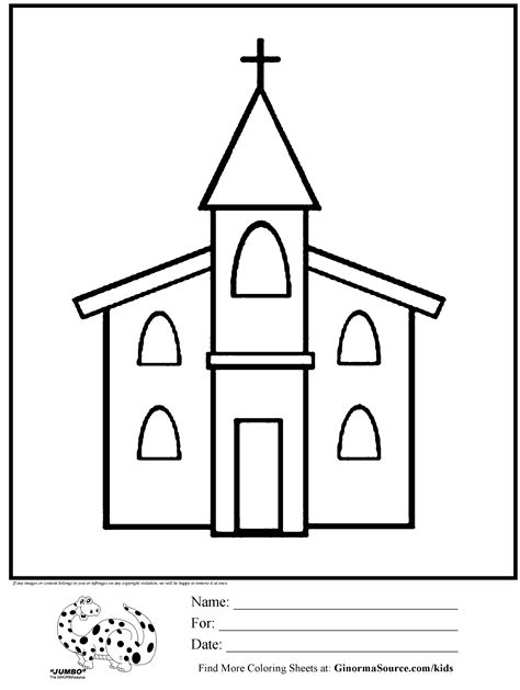 coloring page church jesus 4 children pinterest