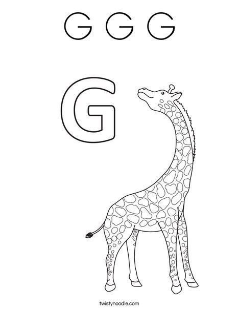 letter g giraffe coloring page g g g coloring page twisty noodle