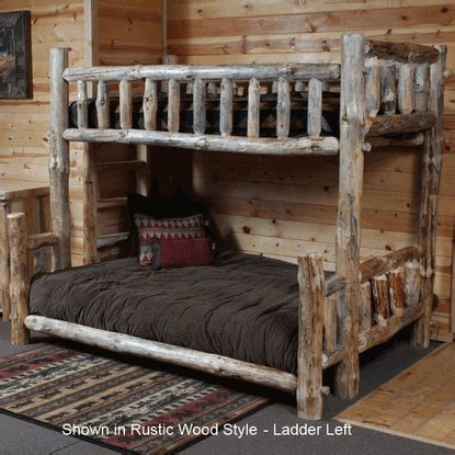 Pine Log Bunk Beds Twist Of Nature Pine Log Bunk Bed