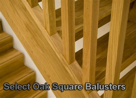 Wooden Banister Parts White Oak Stop Chamfered Balusters Square Stair