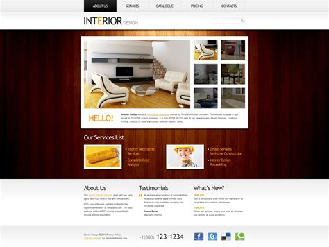 free website templates home design free website template clean style interior