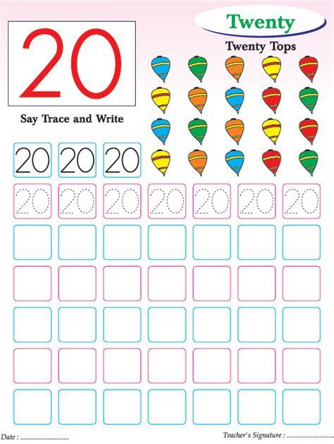 Numbers Writing Practice Worksheet 17 Free - numbers writing practice worksheet 20 free