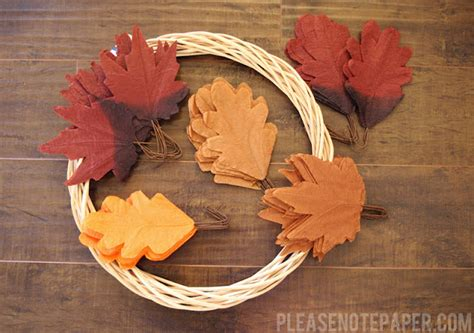 How To Make Fall Leaves Out Of Paper - note diy faux leaf fall wreath