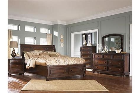 porter sleigh bedroom set the porter sleigh bedroom set from ashley furniture