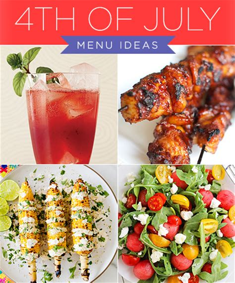 4th of july menu ideas ladylux online luxury lifestyle