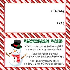 Snowman soup treat bag topper sweetdesignsbyregan