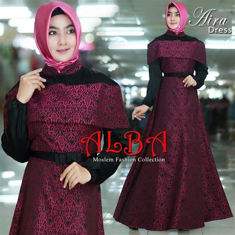 New Arrival Gamis Azzahra Syar39i By Dna Clothing Indonesia aira dress by alba distributor gamis branded original murah
