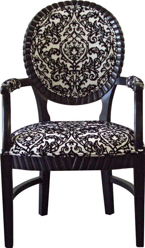 Bella chair black and white damask designer8