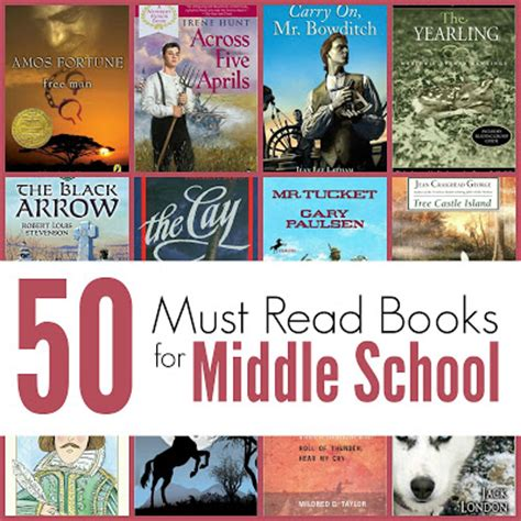 themes middle school literature the unlikely homeschool 50 must read books for middle school