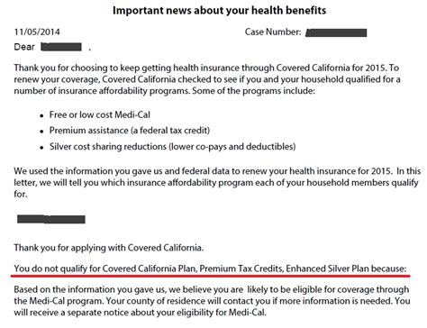 Tax Credit Compliance Letter 2015 1095 A Reveals Excess Aca Tax Credits Paid To Blue Cross From Covered California