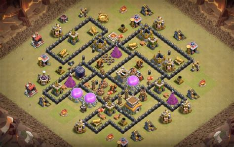 layout coc war base anti naga 11 anti dragon farm and war base designs that work th7 to th10
