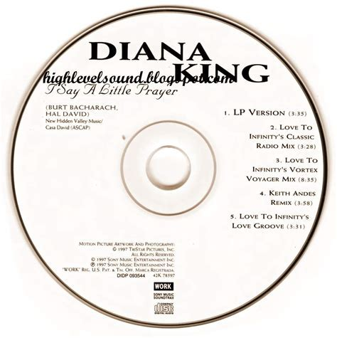 highest level of music: Diana King   I Say A Little Prayer