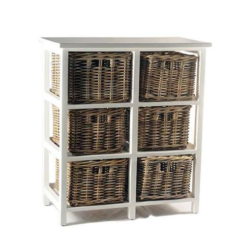 Meja Frame menarik jual meja drawer white frame rattan basket