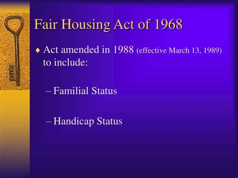 fair housing act of 1968 ppt the fair housing act rights and remedies powerpoint presentation id 1209085