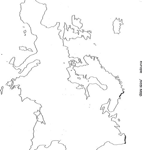 Outline Map Of Europe Physical by Weekofaug 10handouts Aatang79