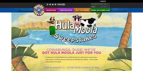 Wheel Of Fortune 5k Giveaway 2017 - wheel of fortune hula moola sweepstakes