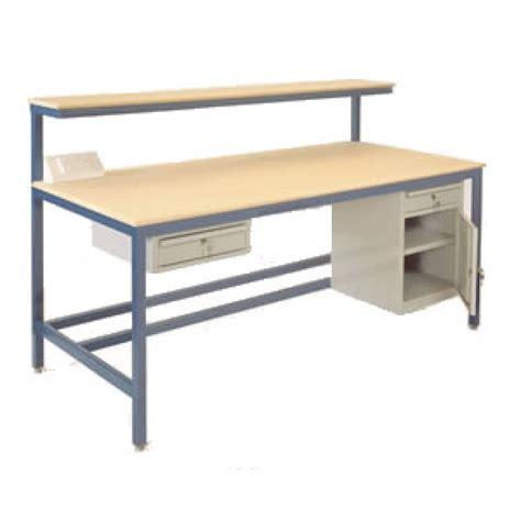 assembly benches medium duty steel assembly workbench mdf top mezzanine