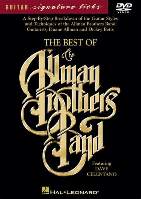 best of the allman brothers the best of the allman brothers band dvd sheet by