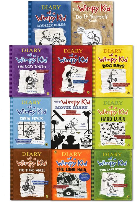 diary of a wimpy kid days book diary of a wimpy kid collection 11 books set diary luck days ebay