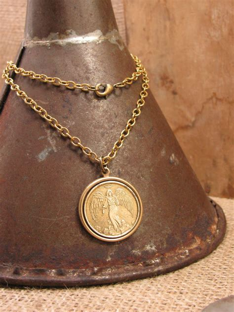 Guardian Necklace Guardian Necklace Coin Jewelry Upcycled Jewelry