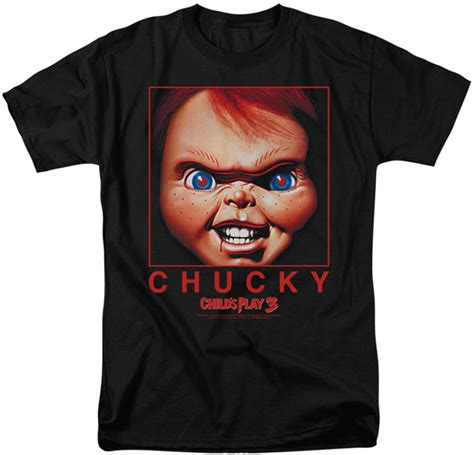 T Shirt Chucky childs play t shirt chucky squared mens black