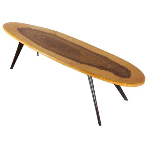 Surf Board Coffee Table Vintage Italian Surfboard Coffee Table In Solid Walnut And Rosewood 1960s For Sale At 1stdibs