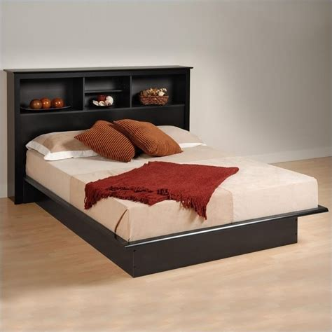 prepac black sonoma double full bookcase platform bed ebay