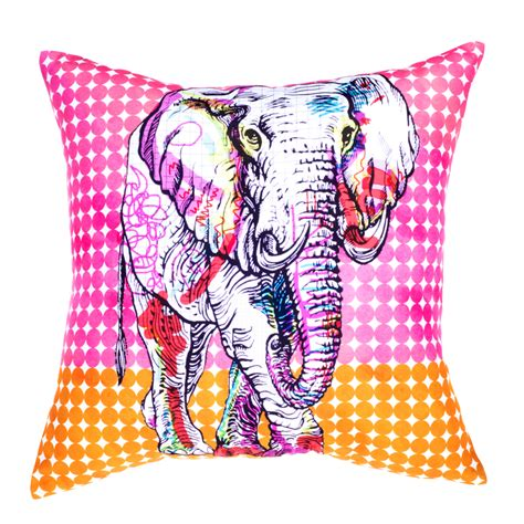 Hot Sale Modern Sofa Cushions Printed Colorful Elephant Colorful Pillows For Sofa