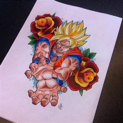 goku tattoo designs goku design by hamdoggz deviantart on
