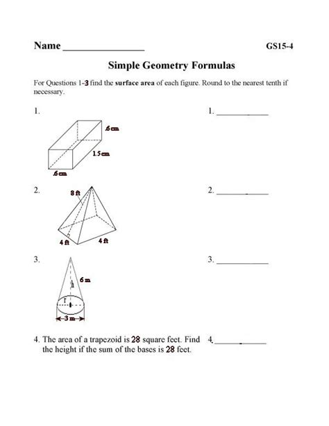 printable area of page bluebonkers free printable math geometry sheets surface